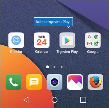 Na početnom zaslonu sustava Android dodirnite Trgovina Play.