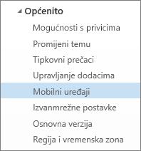 Općenito > Mobilni uređaji