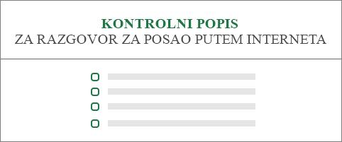 Konceptualna slika kontrolnog popisa prijava za radno mjesto