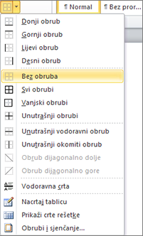 PowerPoint 2010 table border options