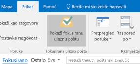 Značajka fokusirane ulazne pošte u programu Outlook