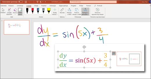 Pretvaranje rukopisa u matematičke izraze