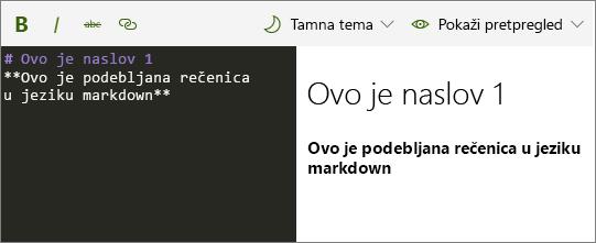 Web-dio za Markdown