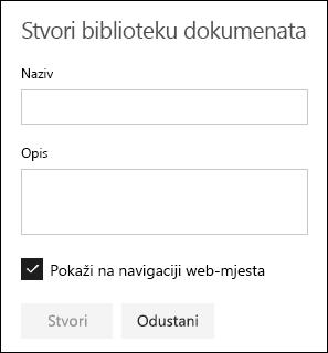 Pojedinosti o biblioteci dokumenata