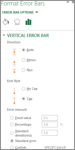 Okno za oblikovanje traka pogrešaka
