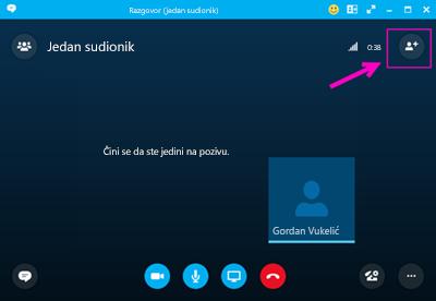 Pozivanje iz sastanka uz Skype za tvrtke.