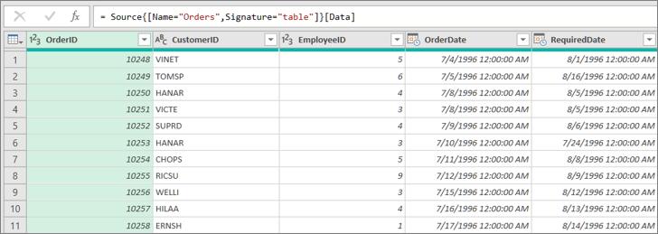 Padajući popis potvrdnih okvira u podatkovnoj tablici