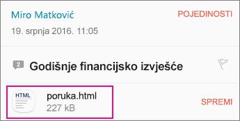 OME Viewer pomoću aplikacije za e-pošte za Android 1