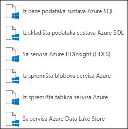 Dohvaćanje podataka iz sustava Microsoft Azure