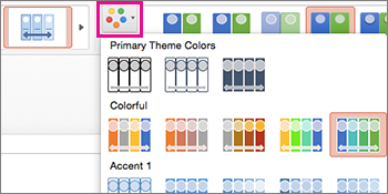 chage the color scheme of the timeline