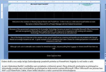 Upisivanje teksta u organizacijski grafikon