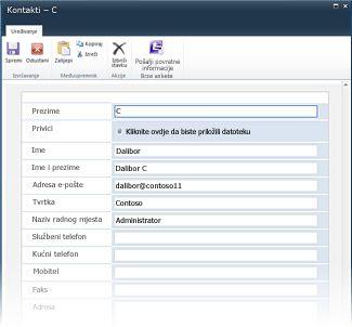 Obrasci popisa programa InfoPath za SharePoint