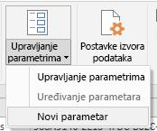 Power Query – mogućnost Upravljanje parametrima