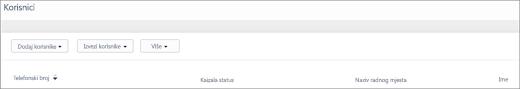 Snimka zaslona: Dodavanje korisnika Kaizala telefonskog broja