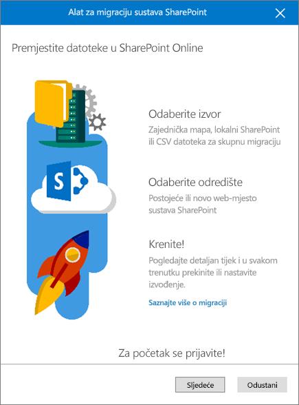 Alat za migraciju sustava SharePoint
