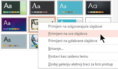 Primjena na sve slajdove
