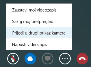 Snimka zaslona za prelazak na drugi videoprikaz
