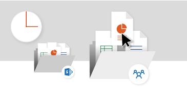 Jednostavan pristup datotekama pohranjenim na web-mjestima i u grupama