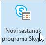 Outlook, gumb Novi sastanak putem Skypea