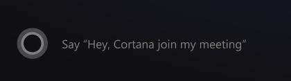 Cortana MTR: uključivanje u naredbu sastanak