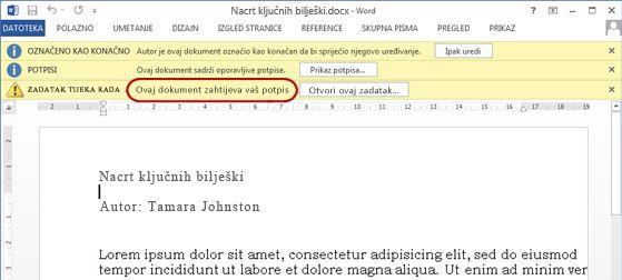 Prepoznavanje teksta u stavci koju treba pregledati