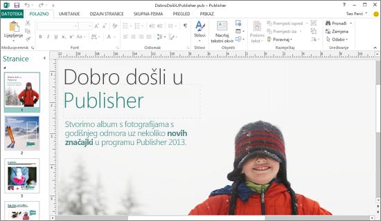 Uvod u Microsoft Publisher