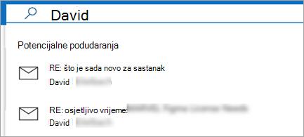 Prikaz prijedloga e-pošte