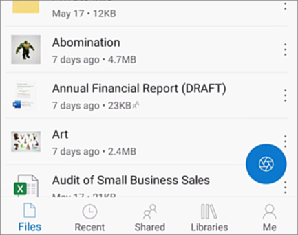 OneDrive za iOS