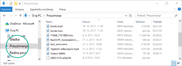 Pretvorena datoteka kopirat će se u mapu Preuzimanja na vašem računalu.
