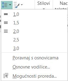 Snimka zaslona kako promijeniti prored u programu Publisher.