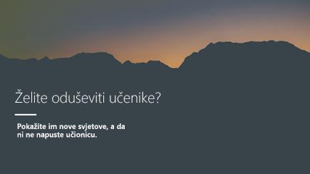 Snimka zaslona s prikazanim naslovnim slajdom 3D predloška programa PowerPoint