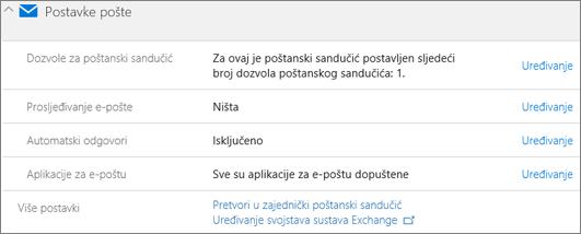 Snimka zaslona: Pretvorite korisnički poštanski sandučić zajedničkog poštanskog sandučića