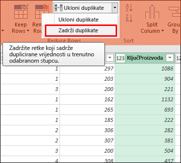 Power Query – zadržavanje duplikata