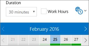 Radno vrijeme u programu FindTime