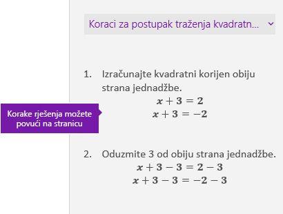 Rješenje koraka u oknu zadatka matematičkih izraza