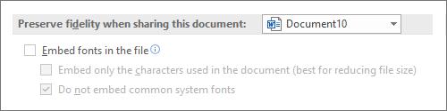 Ne ugrađuj fontove