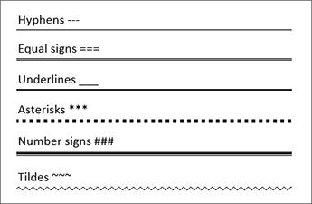 Tablica redaka koja upisuje određene znakove tri puta stvaranje