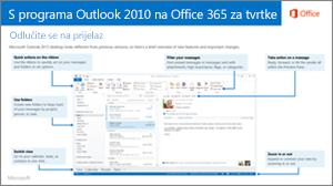Minijatura vodiča za prebacivanje s programa Outlook 2010 na Office 365