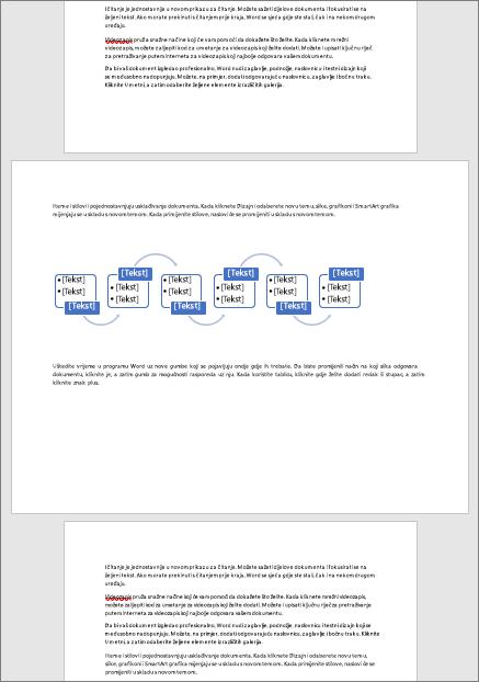 Vodoravna stranica u inače okomitom dokumentu omogućuje vam da na stranicu stane široke elemente kao što su tablice i dijagrami.