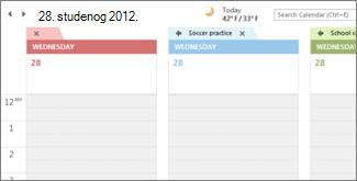 Više kalendara s pozadinama različitih boja