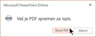 Vaš je PDF spreman