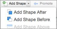 add a shape before or after