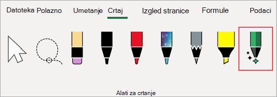 Izbornik Alati za crtanje