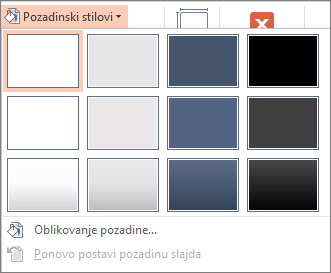 Stilovi pozadine u programu PowerPoint