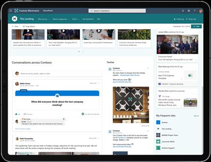 Web-dio razgovora servisa Yammer u sustavu SharePoint