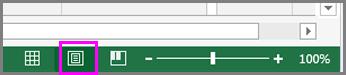 Gumb Izgled stranice na traci stanja