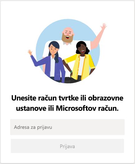 Prijava u Microsoft Teams