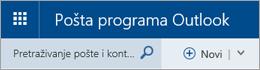 Traka izbornika aplikacije Pošta u programu Outlook