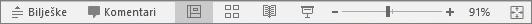 Prikaz gumba Prikaz pri dnu zaslona u programu PowerPoint