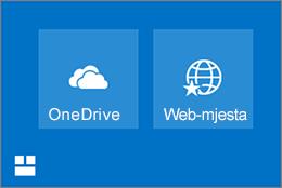 Pločica web-mjesto Onedrive i u okvir za web-mjesta